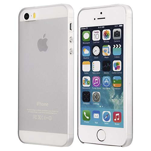 iPhone SE Case, iPhone 5s Case, Thinnest Cover Premium Ultra Thin Light Slim Minimal Anti-Scratch Protective - For Apple iPhone 5/5s/SE | totallee The Scarf (Frosted White)
