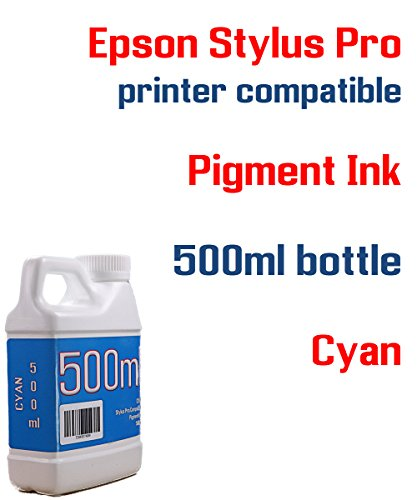 Cyan Pigment ink 500ml bottle compatible ink - Stylus Pro 3800 3880 4000 4800 4880 7600 7800 7880 9600 9800 9880 - Cyan Ink 9600 Ultrachrome