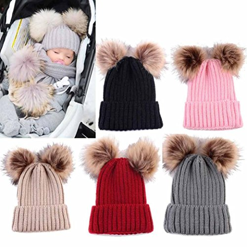 Next Baby Girls Pink Bobble Hat 3-6 Months Clothing, Shoes & Accessories