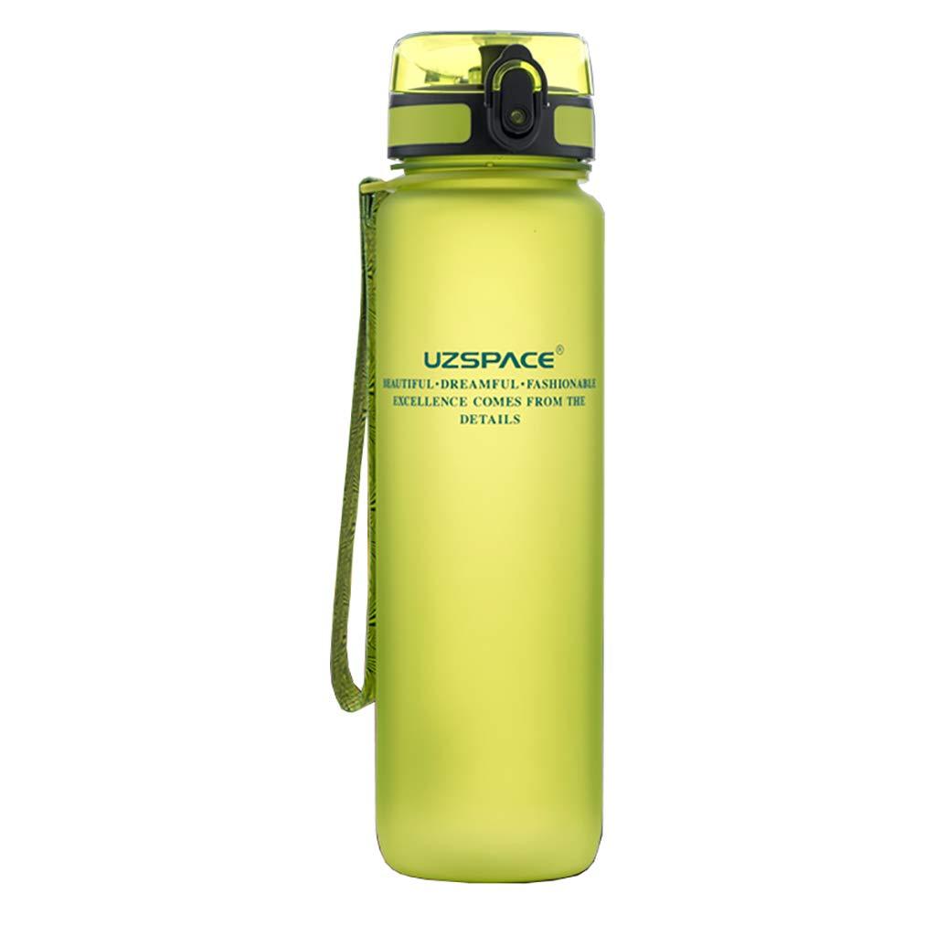 GQ Sport Getränke Flasche Auslaufsicher Wasserflasche Große Kapazität Wasser Tasse Männlich Tragbare Anti-Fallen Kunststoff Raum Tasse Große Outdoor Student Fitness Sport Flasche