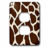 3dRose lsp_164634_6 Cream and Brown Giraffe Print Light Switch Cover