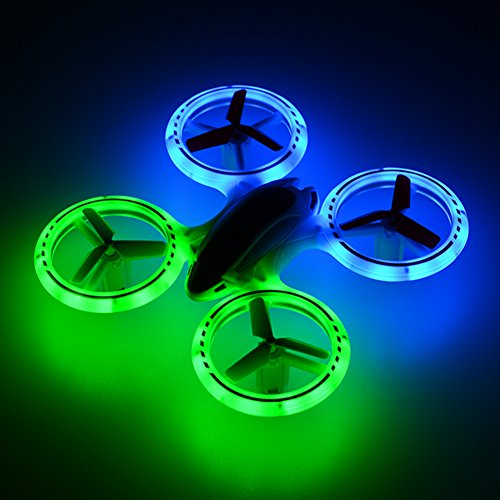 RCtown JXD 398 Lighting RC Quadcopter 2.4GHz 4CH 6 Axis Mini Drone UFO with Fantastic LED Light Red