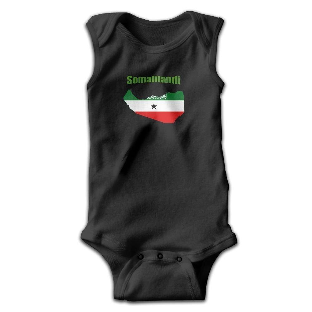 Somaliland Flag Map Baby Newborn Crawling Suit Sleeveless Romper Bodysuit Onesies Jumpsuit Black