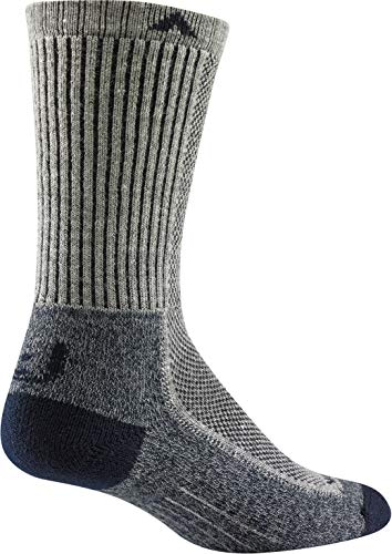 Wigwam Cool-Lite Hiker Crew F6067 Sock, Grey/Navy - Large
