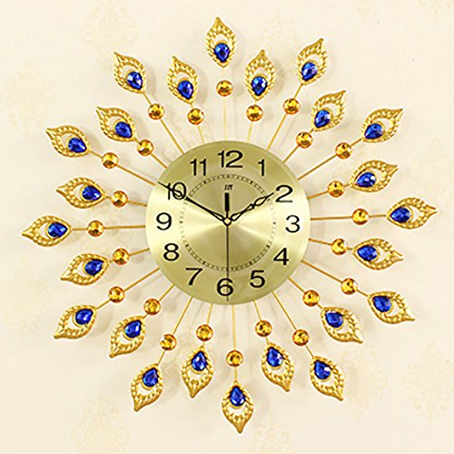Metal Round Wall Clock Quartz Clock Peacock