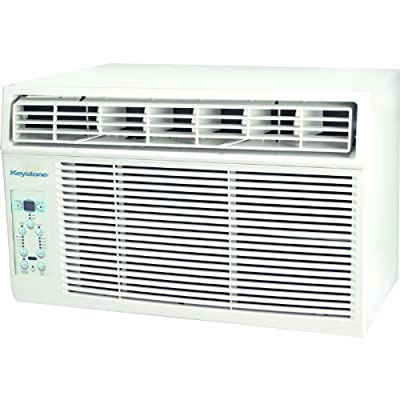 "Keystone KSTAW12A 12,000 BTU 115-Volt Window-Mounted Air Conditioner with ""Follow Me"" LCD Remote Control"