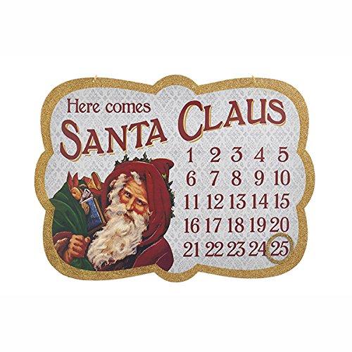 Kurt Adler Santa Countdown Calendar Plaque C6862