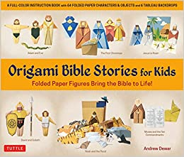 Origami Bible Stories for Kids Kit: Folded Paper Figures and