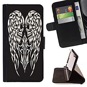 Dragon Case - FOR Samsung Galaxy S4 IV I9500 - Nurture passes nature - Caja de la carpeta del caso en folio de cuero del tir¨®n de la cubierta protectora Shell