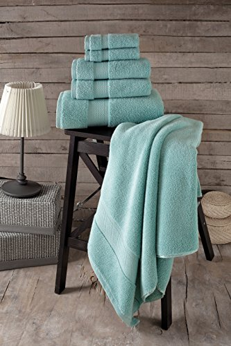 Bagno Milano Luxury Hotel & Spa Collection Turkish Cotton Large Hand Towel Set of 4, (Green) Super Soft and Ultra Absorbent Turkish Towel by Bagno Milano (Image #1)
