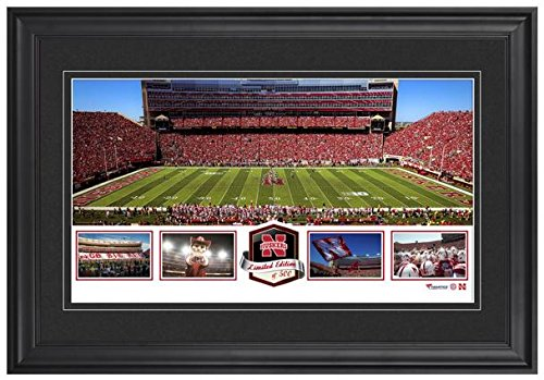 Framed Nebraska Cornhuskers (Memorial Stadium Nebraska Cornhuskers Framed Panoramic Collage-Limited Edition of 500 - College Team Plaques and Collages)