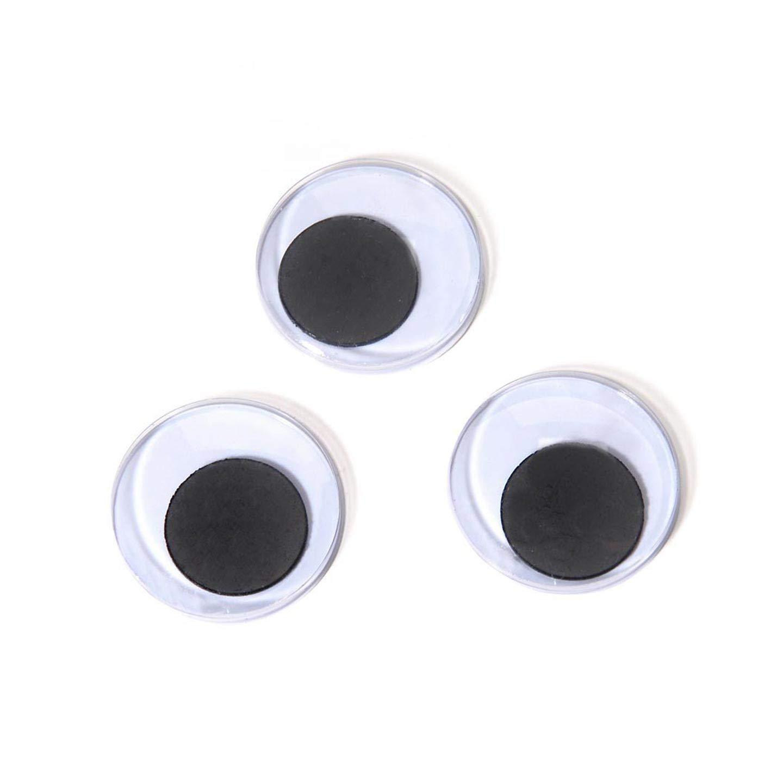 Darice Bulk Buy DIY Paste On Eyes Movable Black 25mm 144 Pieces (3-Pack ME25-144