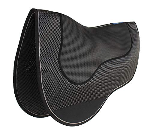 Pro Rider Horse Western Neoprene Endurance Barrel Gel Tack Anti-Slip Saddle Pad 6402BK