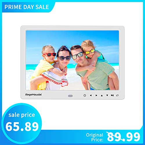 Digital Photo Frame,RegeMoudal 12 Inch Picture Frame with Remote Control 1080P High Definition, Support 32G SD and USB, Various Display Modes, for Pictures and Videos - Definition High Memory