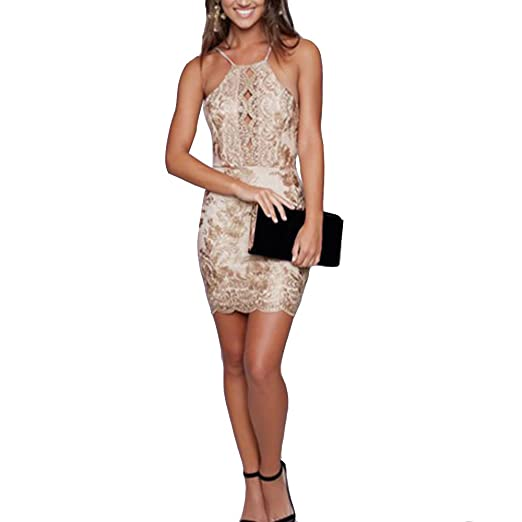 795971a4db9 Image Unavailable. Image not available for. Color  LINGMIN Women s Sexy Lace  Floral Strap Dress Sleeveless ...