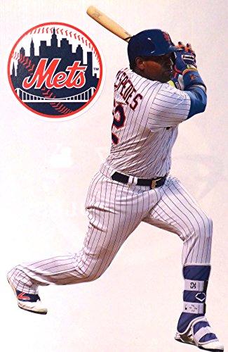 Yoenis Cespedes Mini FATHEAD New York Mets Logo Official MLB Vinyl Wall Graphics 7