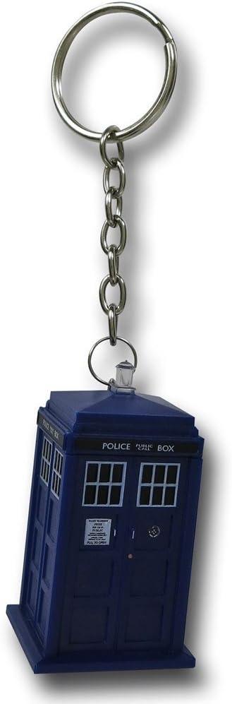 TARDIS 4GB USB Key Chain with Flashing Blue LED Light Doctor Who Memory Stick