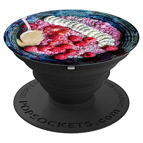 Acai Bowl Bananas Berries Yogurt Healthy Living - PopSockets Grip and Stand for Phones and Tablets
