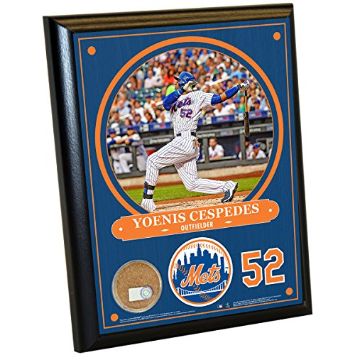mlb-new-york-mets-yoenis-cespedes-plaque-with-game-used-dirt-from-citi-field-8-x-10-navy