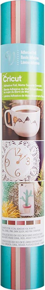 5/x 32/x 5.84/cm Multicolore Cricut Mat adh/ésif Foil Sampler