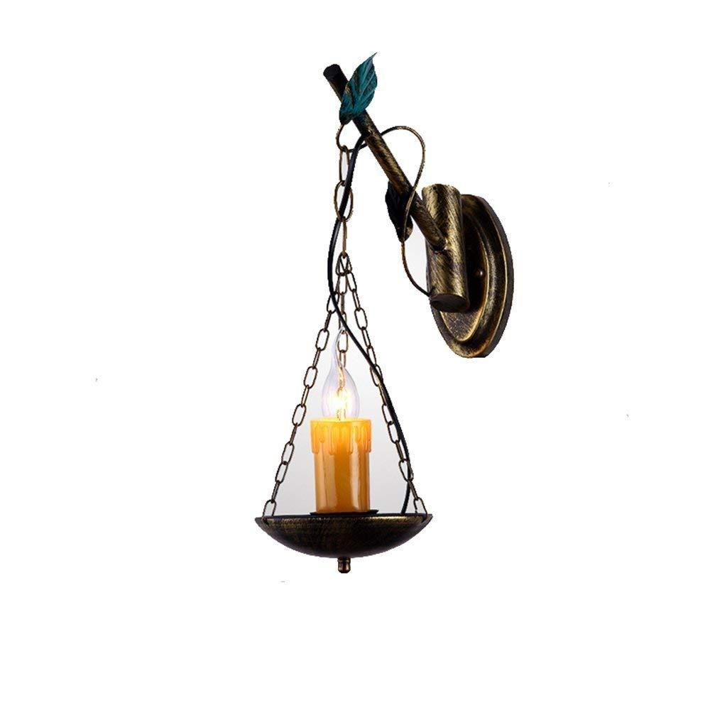 Nouler Retro Wandleuchte Eisen Persönlichkeit Vintage Antique Bar Lights Gehen ländlichen Balkon elektrische Glühbirnen