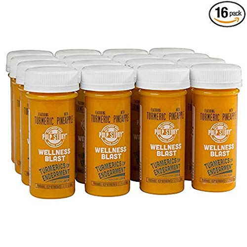 Cold Pressed Juice Shots - Pineapple & Turmeric Juice - Organic Health & Wellness Blast - 2 Ounce Single Servings, 16 Count - By Pulp ()