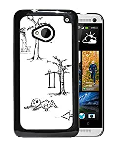 New Beautiful Custom Designed Cover Case For HTC ONE M7 With Sketch Phone Case