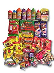 This AtHomePlus Care Package is packed with a variety of 40 individual-serving sized Mexican candies and snacks. These tasty snacks are an assortment of the favorite choices in a survey of college care packages and care packages for military....
