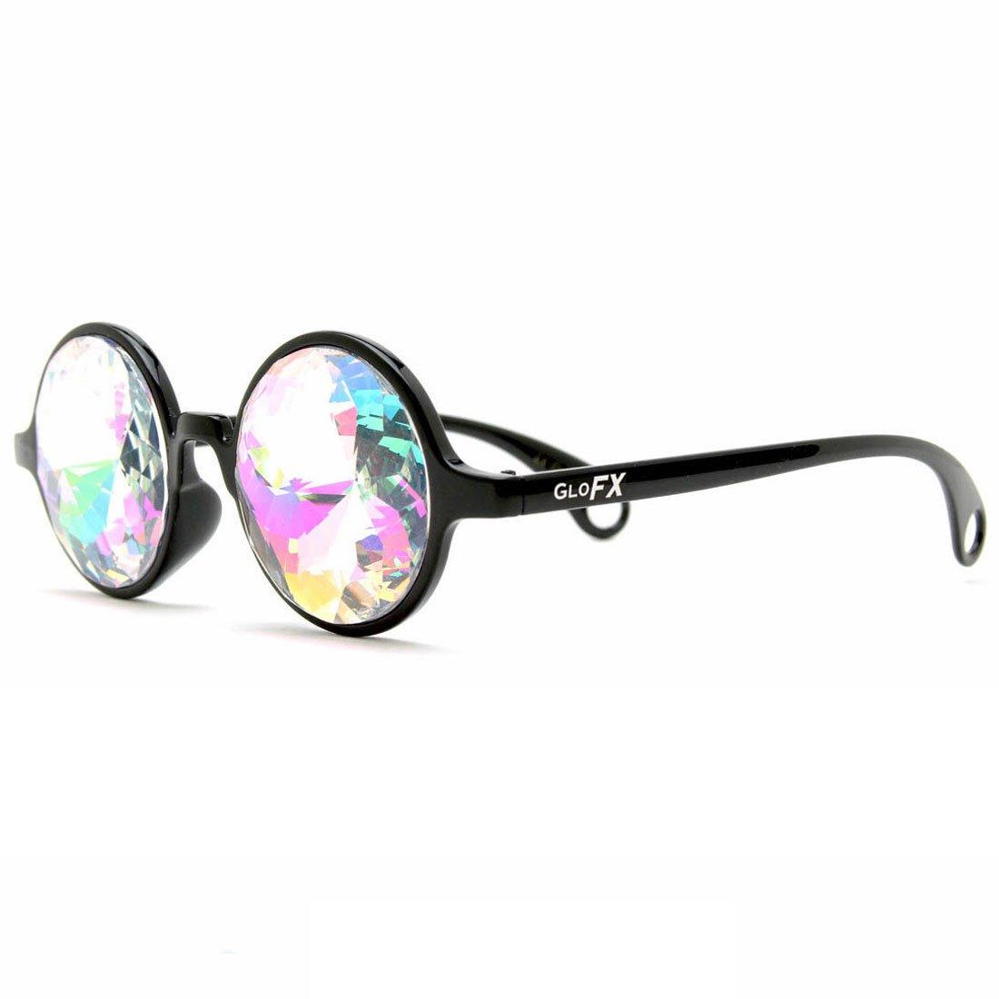GloFX Noir Kaléidoscope Lunettes-Arc-En-Ciel Costume De Rave  Amazon.fr   Vêtements et accessoires a0c30764a3c7