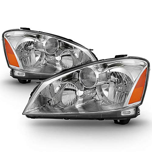 ACANII - For [Only Halogen Model] 2005-2006 Nissan Altima Headlights Headlamps Lamps Replacement Driver & Passenger Side
