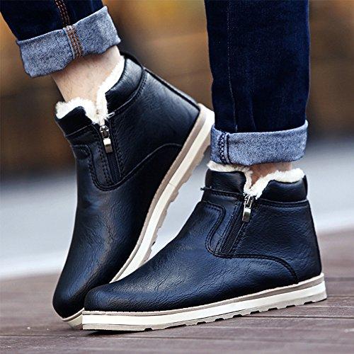 PU scarpe Stivali Invernali SGoodshoes in Uomo Tooling Stivali Pelle sneakers Nero FO6aB