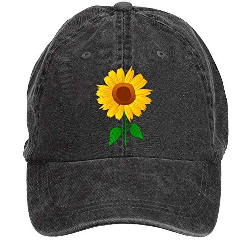 (NVJUI JUFOPL Sunflower Clipart Baseball Cap Adjustable Unisex Camping Hat Black )