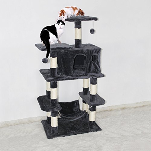cat tree house kitten activity tower condo with hammock scratch proof  u0026 dirt resistant cat tree condo     tree house kitten activity tower condo with hammock scratch      rh   catsstore