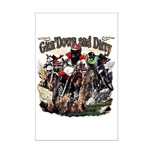 Mini Poster Print Gitn' Down and Dirty Dirt Bikes