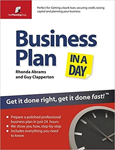 amazon business plan in a day get it done right get it done fast