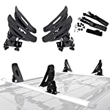 ALAVENTE Universal Saddles Cradle Canoe Kayak Carrier Boat Surf Ski Roof Top Mounted Roof Rack Mount Holder Kit for Most Cross Bars