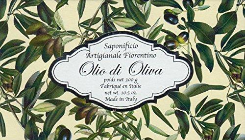 Saponificio Artigianale Fiorentino Italian Olive Oil Large 10.5oz. Moisturizing Single Soap Bar From Italy