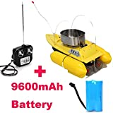 Hopezone T10 Bait Hook Rc Boat Carp Fishing Fishfinder 300m Remote Control + One Extra 9600mah Battery (Yellow)