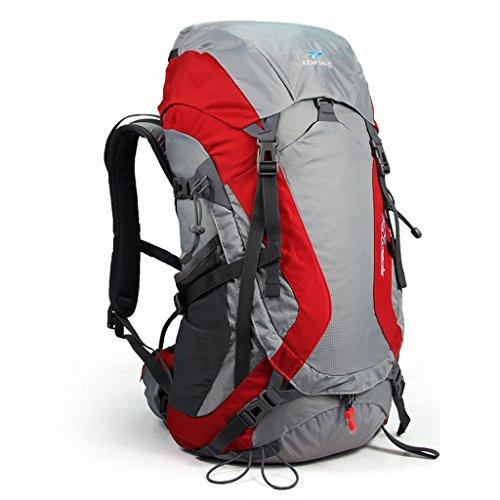 Tamaño de escalada al aire libre que va de excursión mochila hombres y mujeres bolsa de a bordo viajan rojo