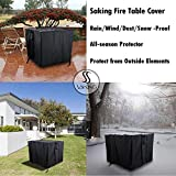 Saking Gas Fire Pit Table Cover Square 28 x 28 x 25