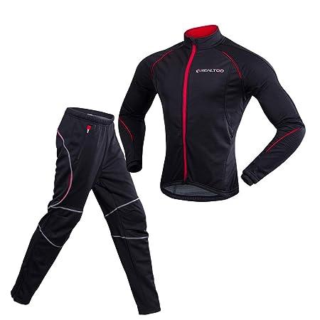Traje de ciclismo Ciclismo Conjuntos de ropa Traje Hombres Zip ...