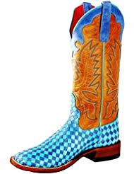 Macie Bean Womens Unbeweavable Turquoise Blue Turbulence Boots