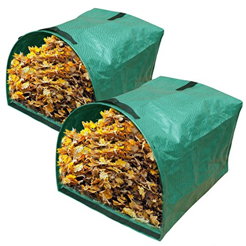 - Gardzen 2-Pack Large Yard Dustpan-type Garden Bag for Collecting Leaves - Reuseable Heavy Duty Gardening Bags, Lawn Pool Garden Leaf Waste Bag