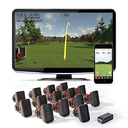 Rapsodo R-Motion Golf Simulator and Swing Analyzer with 14 Clip Attachments - PC and (Indoor Golf Simulators)