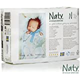 Naty by Nature Babycare Chlorine-Free ECO Diapers for Newborn, 104 Count