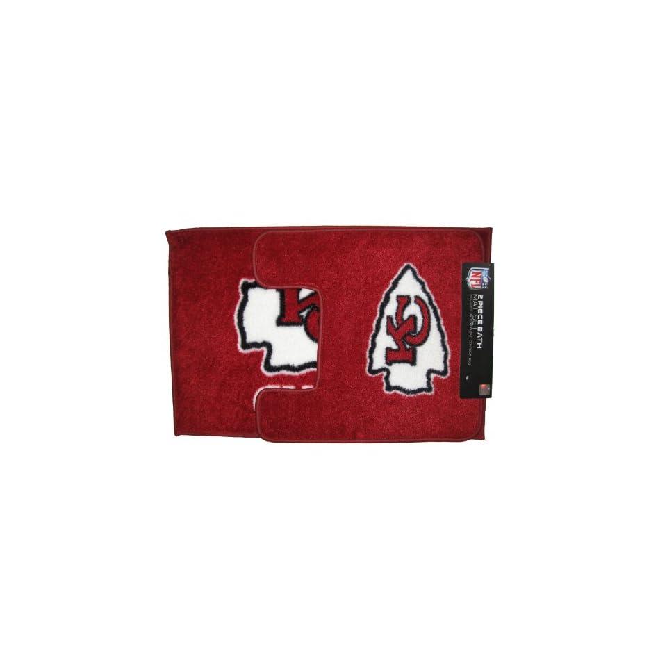 Kansas City Chiefs NFL 2 Piece Bath Rug Mat Set