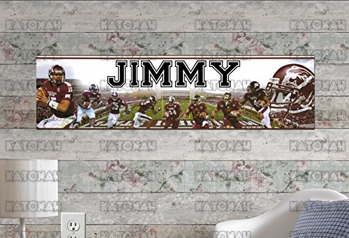 (Customized Name Painting Mississippi State Bulldogs Poster With Your Name On It Personalized Banner )