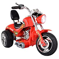 Red Kids Ride On Car 12V Motorcycle 3 Wheels Battery Powered Electric Bicycle Toy