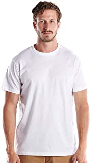 product image for US Blanks Men's Made in USA Short Sleeve Crew T-Shirt S WHITE