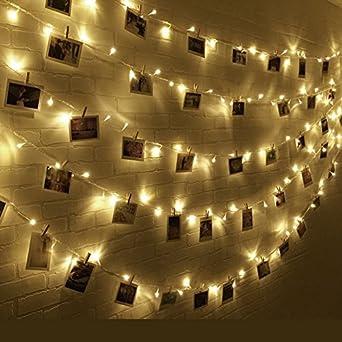 Kitlit 11M 100 LED Lichterkette Wasserdicht Batteriebetrieben Foto Clip  Sternenlicht Licht Wanddeko Stimmungslichter Warmweiß Romantisch Für